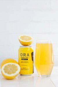 A lemon flavoured beer