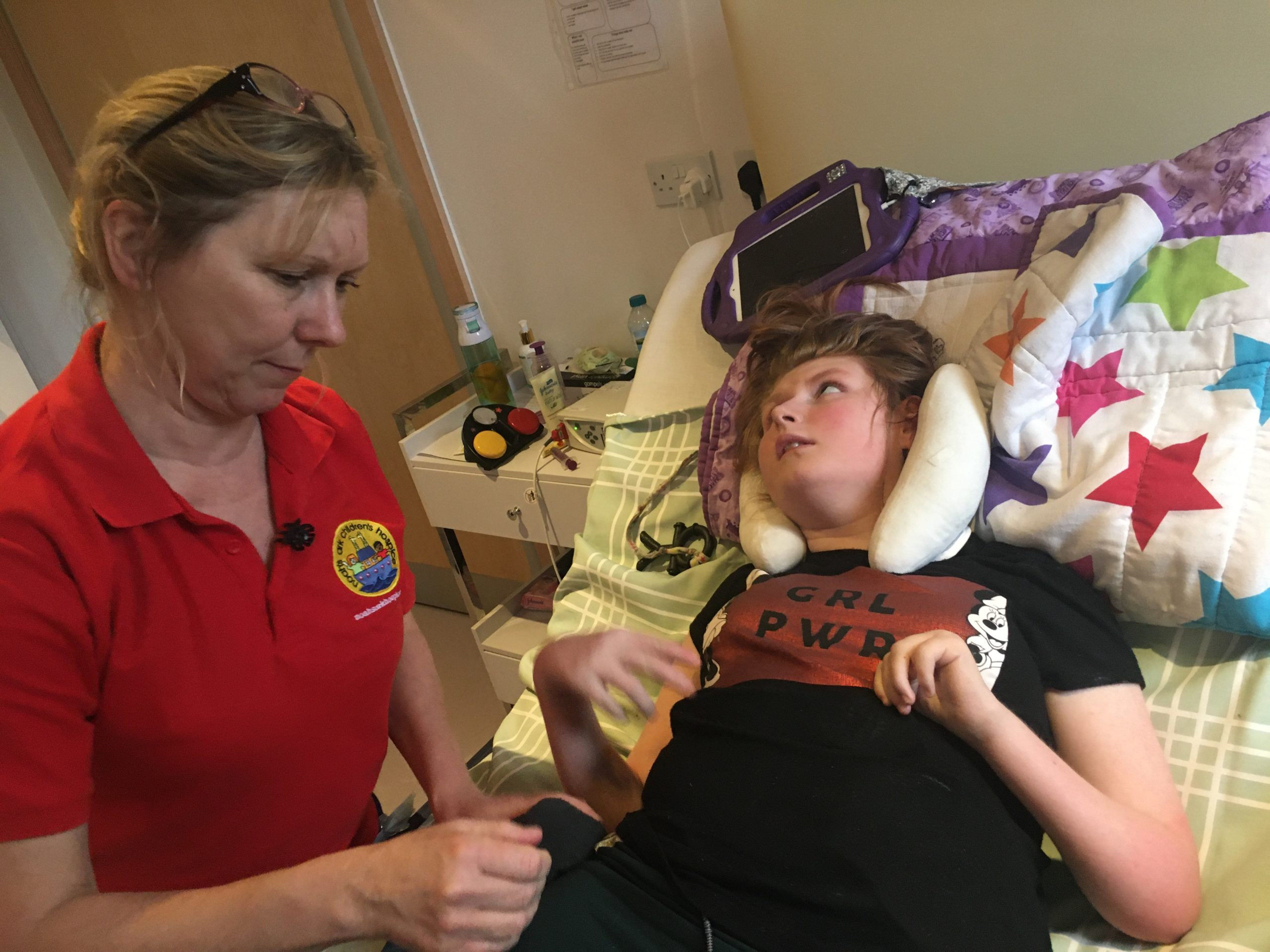 A carer with a sick child